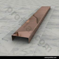Parlak Bronz Bordür Profili