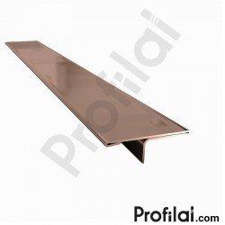 Paslanmaz Çelik Parke T Profili Bronz Parlak